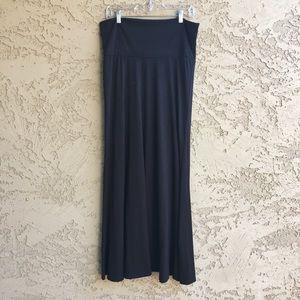 XHILERATION Maxi Skirt Long Ankle Length Black L